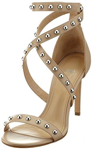 HUGO Damen Shoreditch Sandal 100-c Riemchensandalen Beige (Light Beige)