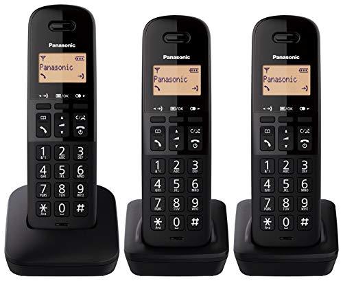 Panasonic KX-TGB613 – Teléfono Fijo inalámbrico trío, Bloqueo de Llamadas, 18 Horas de conversación, 200 Horas en Espera…