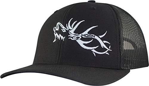 - Horn Gear Trucker Hat - Hunters Series Caps - Elk Edition Hats (Black/Black)