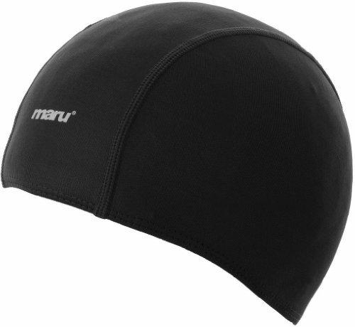 Maru Swimming Costume (Black Maru Polyester Swim Cap Swimming Swimmer Accessory Equipment Sport Leisure)