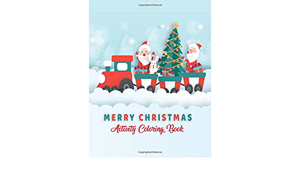 Merry Christmas Activity Coloring Book: Very Simple, Clean & Easy Printable  Christmas Coloring Pages Book - 8.5