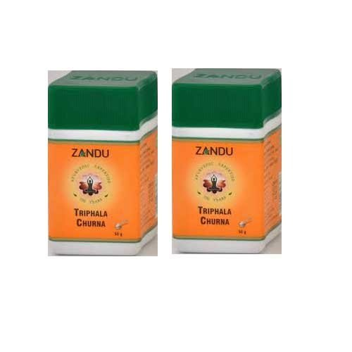 2 X Zandu Triphala Churna - 50g by - In India 6g