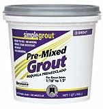Simple Grout PMG333QT 1 Quart Alabaster Pre Mixed Grout