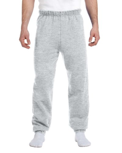 - Jerzees mens 8 oz. 50/50 NuBlend Fleece Sweatpants(973)-ASH-S