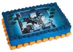Enjoyable Amazon Com Batman Edible Birthday Cake Topper Kitchen Dining Birthday Cards Printable Benkemecafe Filternl