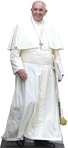 Wet Paint Printing + Design H48061 Pope Francis Standing Cardboard Cutout