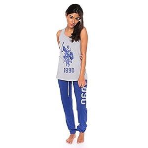 U.S. Polo Assn. Womens Top Pajama Pants Lounge Sleepwear Set