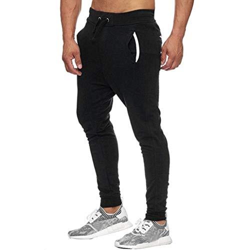 Cordon Confortables Longs Noir Hommes Formation Vêtements Pour Taille  Pantalons Casual Slim Fit Sports Élastique Tailles 4I678 3108937d0f39