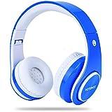 Kids Wireless Headphones,Votones Volume Limiting Adjustable Bluetooth Headphones Children,Lightweight Fold-able Over Ear Earphone Microphone (Blue)