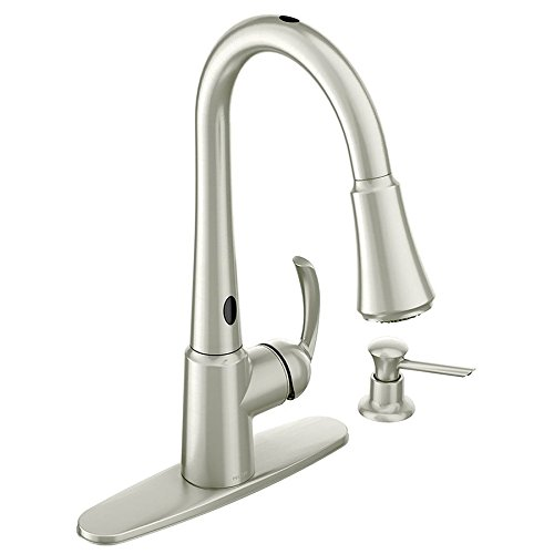 Moen 87359E2SRS One-Handle High Arc Pulldown Kitchen Faucet, Spot Resist Stainless