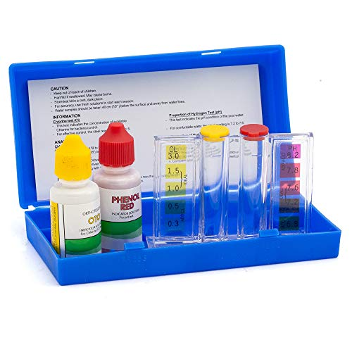 - Swimming Pool Spa Water Chemical Test Kit Chlorine and Ph 1/2oz.Otoand Phenol