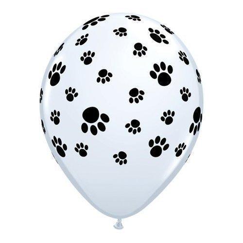 Ballon Imprimé Empreinte Patte Qualatex Latex 28cm x 5