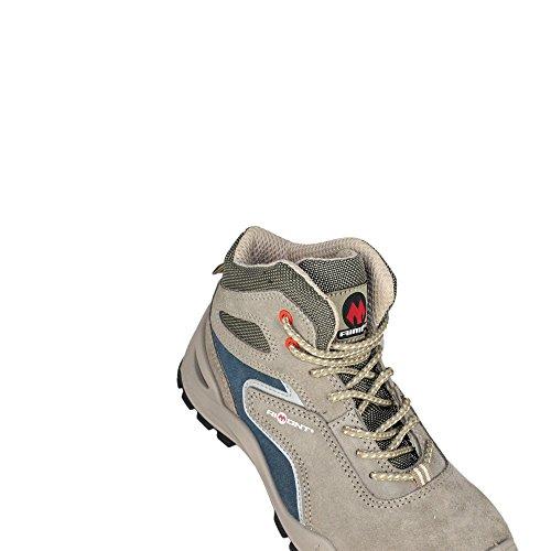 AIMONT - Calzado de protección de Piel para hombre Gris - gris