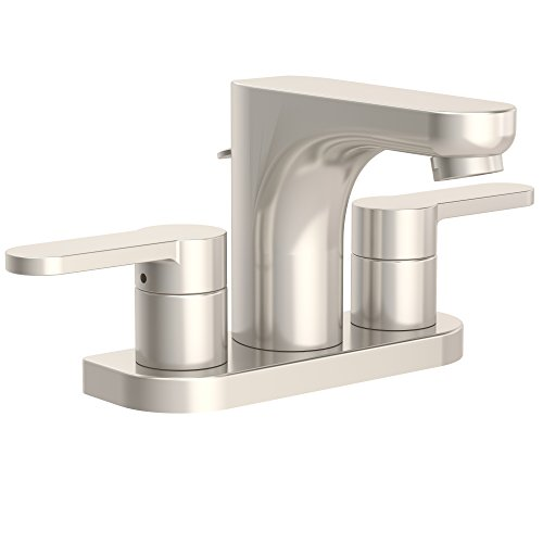Symmons SLC-6712-STN-1.5 Identity 4 in. Centerset 2-Handle Bathroom Faucet with Drain Assembly in Satin Nickel (1.5 GPM)