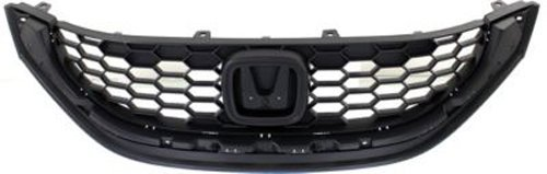 CPP Textured Black Grille Assembly for 2013-2014 Honda Civic - Honda Assembly Civic Grille