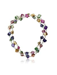 """46"""" Amazing Multicolor Cultured Freshwater Pearl & Simulated Shell Pearls Necklace"""