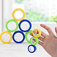 Matasleno - Magnetic Toy 3Pcs Magnetic Rings Toys Colorful Unzip Finger Game Finger Toy Fingle Ring Magical Ri