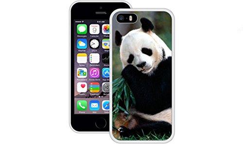 Pandabär | Handgefertigt | iPhone 5 5s SE | Weiß TPU Hülle