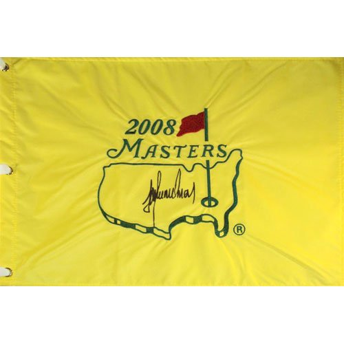 Trevor Immelman Autographed 2008 Masters Golf Pin Flag - Tournament Champion 2008 Masters Golf Champion