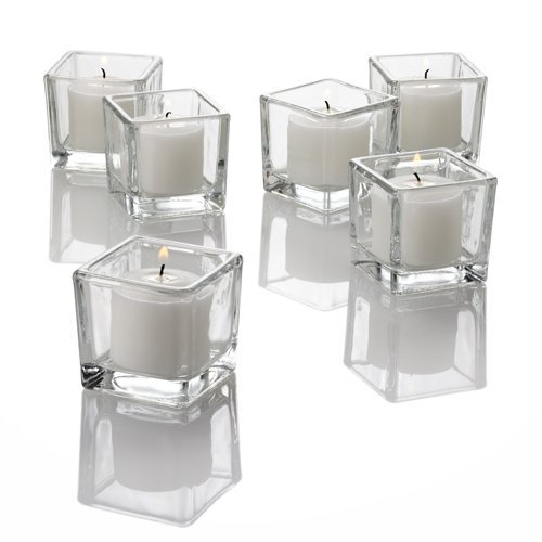 Eastland Square Votive Holders Clear Set of 72 by Eastland