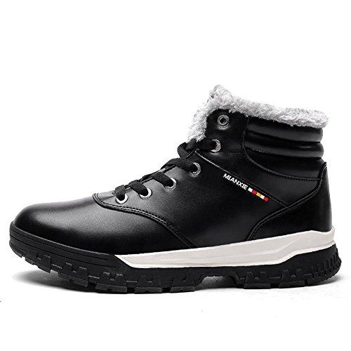 AILU Men's Snow Boots Black