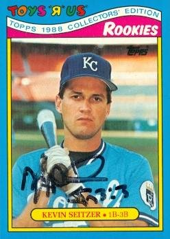 Toys R Us Kansas City (Autograph Warehouse 97999 Kevin Seitzer Autographed Baseball Card Kansas City Royals 1988 Topps Toys R Us No.)