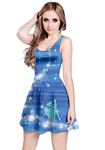 CowCow Womens Blue Shining Princess Sleeveless Dress, Blue - XS]()