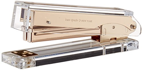 Kate Spade New York Acrylic Stapler Gold Office Accessories (Large Image)