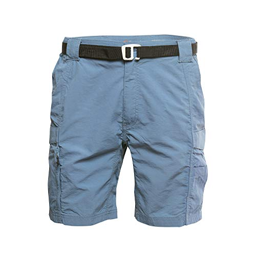 (American Outdoorsman Mens Cargo Shorts with Hiking Belt Ideal for Outdoor Activity (Large, Alpha Blue))