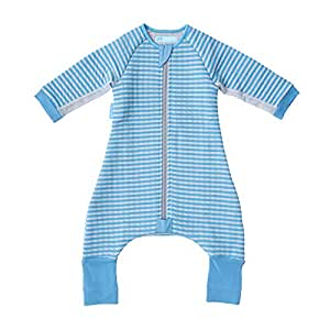 The Gro Company Groromper Blue Stripe Cosy Sleepsuit for 12-24 Month Babies, Blue, 9.91 Ounces