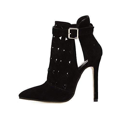 ZHZNVX The wind exposed to cool high-heeled boots Black i7pEyGF8s0