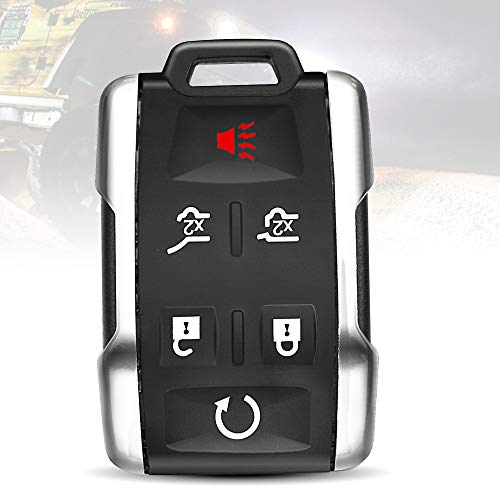 (TURBOSII Replacement Keyless Entry Remote Control Key Fob Clicker Transmitter 6 Button For 2007-2014 Cadillac Escalade,2007-2018 Chevy Suburban 1500 2500,Chevrolet Traverse(M3N5WY8109,OUC60270) )