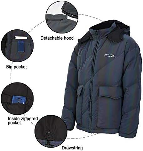 Premium Unisex Iridescent Rainbow Reflective Winter Puffer Jacket, Rave Down Jacket Zipper Closure Hooded