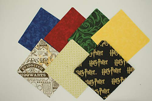 Themed Charm Pack - 42-5 inch Blocks - Charm Packs for Quilting - Fabric Charm Packs - Precut Fabric - Quilt Fabric - 100% Quilting Cotton - Quilting Fabrics - Quilt Kit (Harry Potter #2)