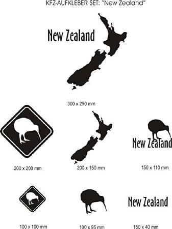 Kfz Aufkleber Set New Zealand 7 Stück Verschiedene