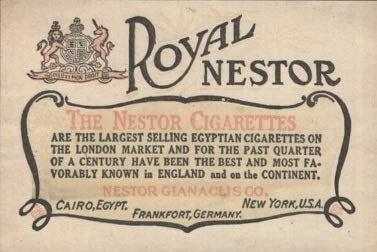 Royal Nestor Small Advertisement: The Nestor Cigarettes