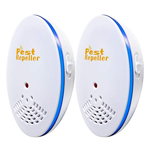 Tinwoo Ultrasonic Pest Repeller 2 Pack Electronic Ultrasound Control Indoor Plug-In Insect Repellent Easiest Way To Reject Bed Bug Mosquito Fly Cockroach