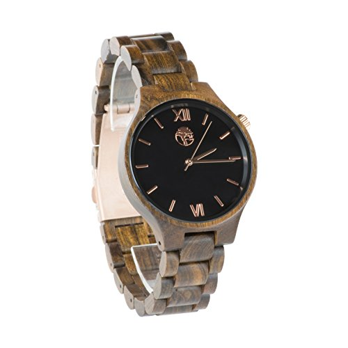 Solid Rose Gold Watch (Viable Harvest Men's Real Wood Watches and Solid Wooden Bands (Rose Gold))