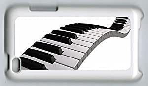 Ipod Touch 4 Case Piano Key Art PC Protected Cover with White Skin Edges by E-sundy