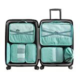 7Pcs Travel Storage Bag for Clothes Packing Cube Luggage Organizer Waterproof Compression Luggage Storage Bags