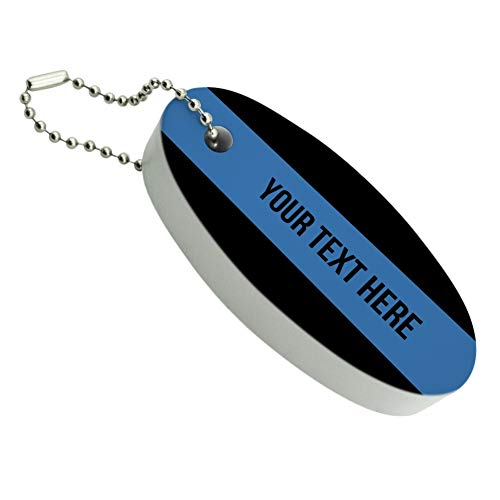 Graphics and More Personalized Custom 1 Line Police Thin Blue Line Floating Foam Keychain Fishing Boat Buoy Key ()