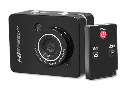 Pyle PSCHD60BK Hi-Speed HD 1080P Action Camera Hi-Res Digital Camera / Camcorder with Full HD Video, 12.0 Mega Pixel Camera, 2.4-Inch Touch Screen (Black) Sound Around