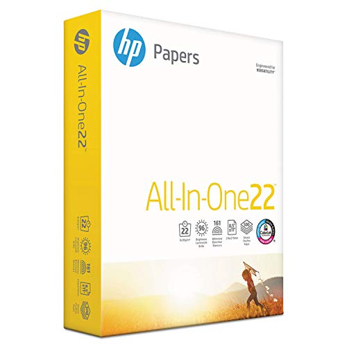 HP All-in-One Paper, 96 Bright, 22 lb, 8-1/2 x 11, White, 500 Sheets/RM (207010) (Hp All In One Printing Paper 22 Lb)