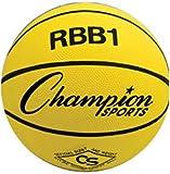 Heavy Duty Rubber Cover Nylon Basketballs YELLOW SIZE 6 - INTERMEDIATE