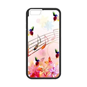 iPhone 6 Plus 5.5 Inch Cell Phone Case Black Musical Note Unique Phone Case Covers Clear XPDSUNTR03261