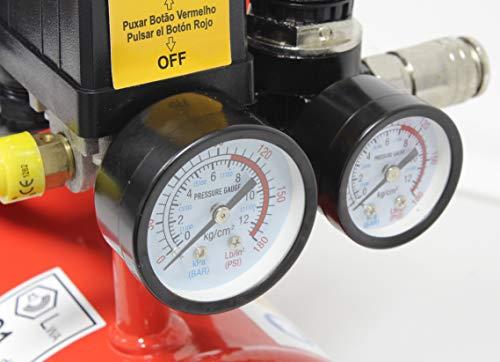 Econ/ómico Silencioso Portable Mader Power Tools 09371 Compresor de Aire Monobloco 6L Ecol/ógico