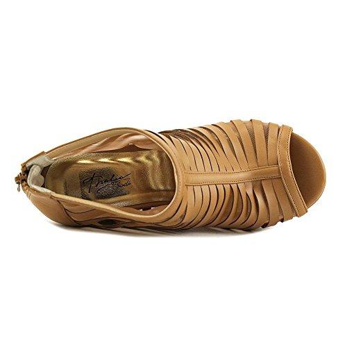 Special Occasion Platform Peep Millo Sodi Thalia Fabric Sandals Tan Womens Toe xwSH4wqgY