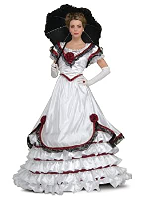 Rubie's Costume Grand Heritage Collection Deluxe Southern Belle Costume, White, Medium