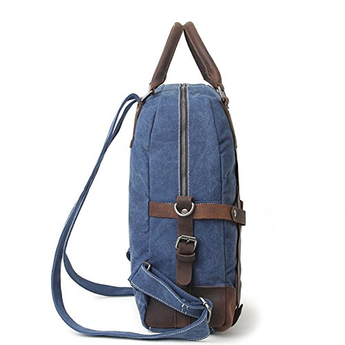 mefly Moda Hombre Bolso Bandolera Multifuncional Mochila Retro, Light card color Royal Blue