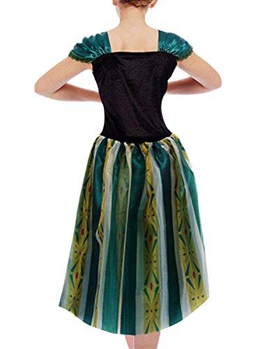 Quesera Women's Anna Costume Frozen Princess Coronation Dress Halloween Costume, White, Tagsize S=USsize XS by Que Sera (Image #3)